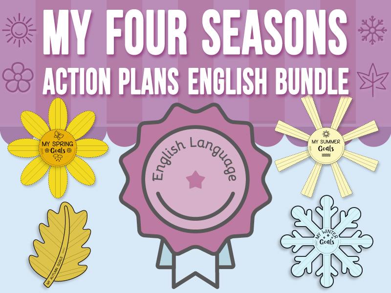 My Four Seasons - Action Plans - ENGLISH BUNDLE