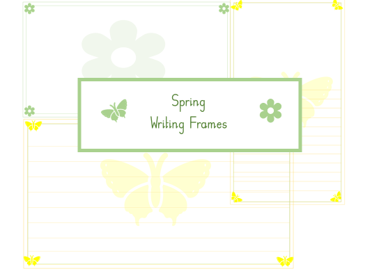 Spring writing frames