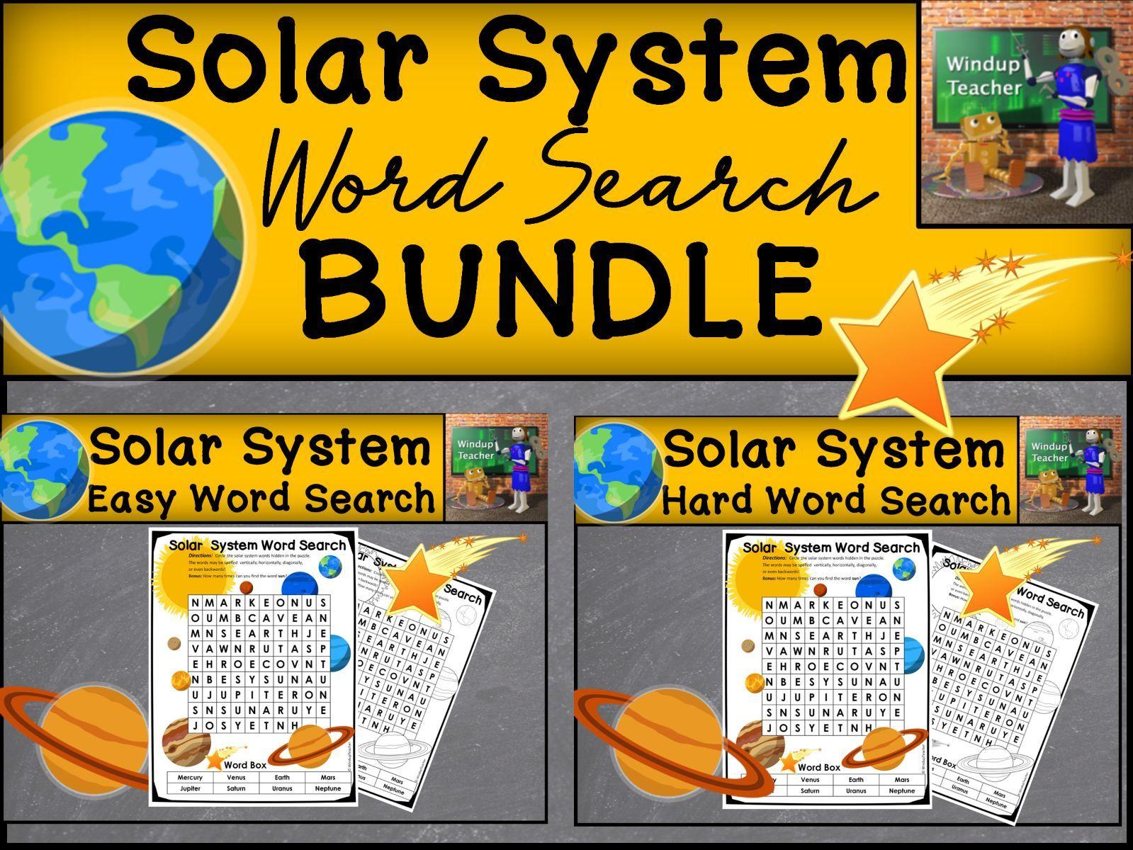 Solar System Word Search Bundle - 2 levels
