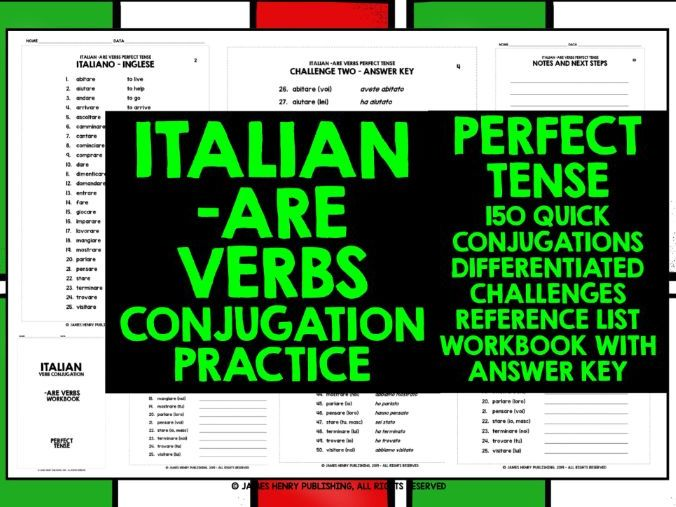 ITALIAN -ARE VERBS CONJUGATION 2