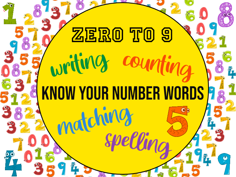 Know Your Number Words KS1 Worksheets