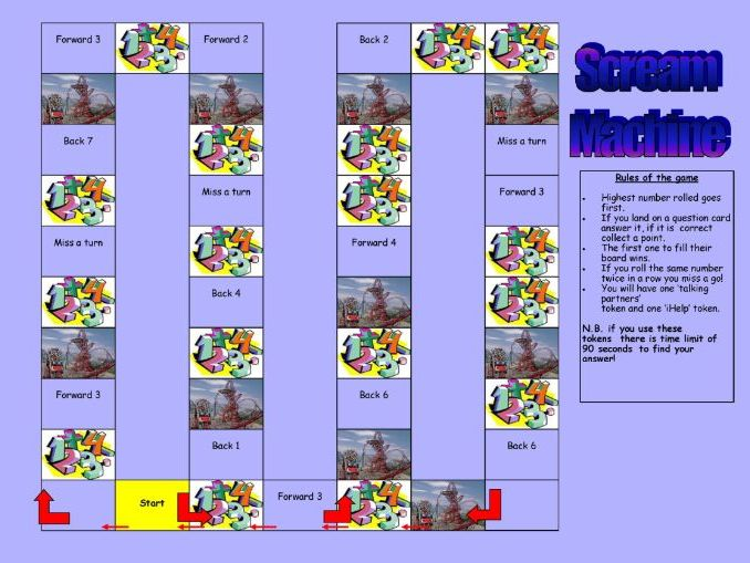 Scream Machine/Rollercoasters Board Game KS2