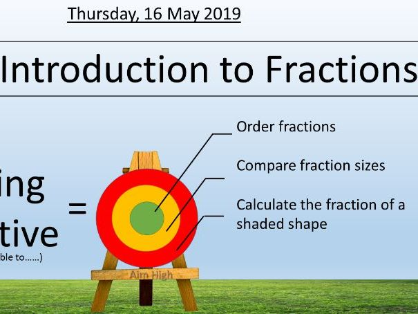 MASTERY MATHS - INTRODUCTION TO FRACTIONS