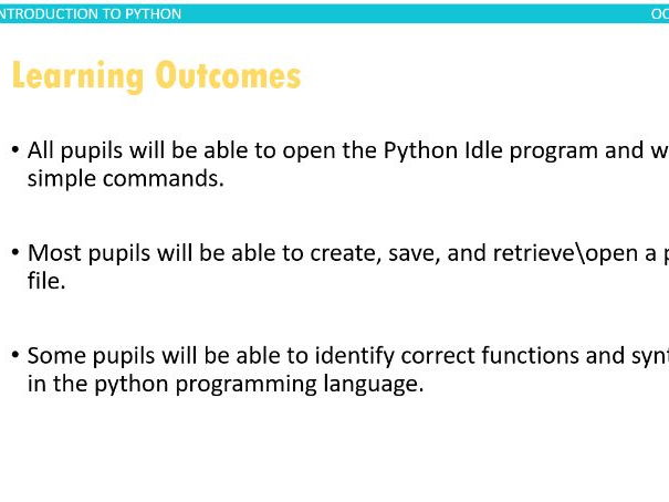 Introduction to Python Lesson 4-Comments