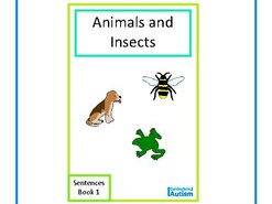 Finish The Sentences Interactive Book- Animals & Insects, Autism, Special Education