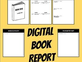 Digital Book Report (Editable in Google Slides)