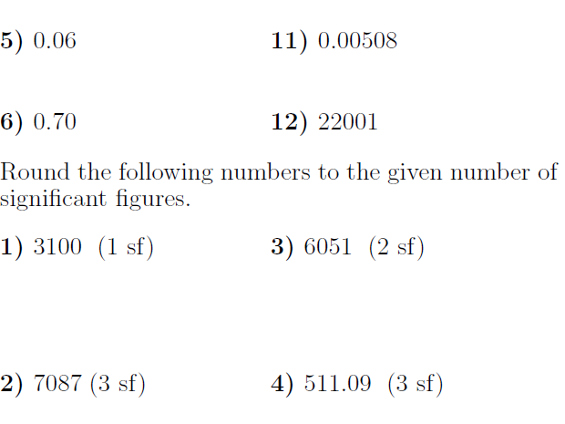 Rounding numbers, significant figures and calculator use