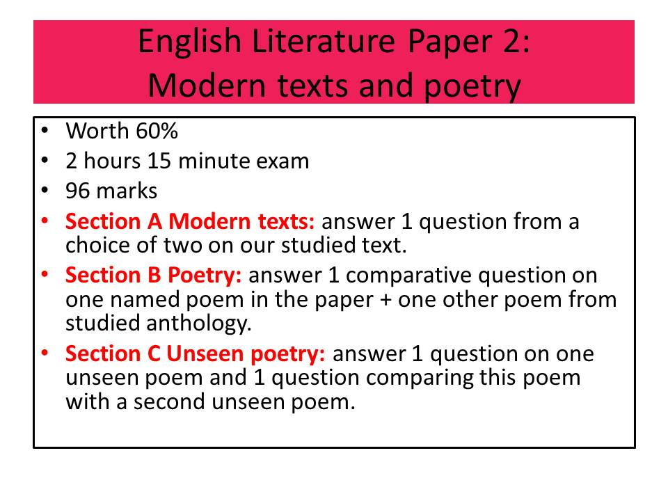 Aqa unseen poetry past papers