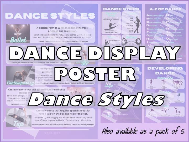 Dance Display Poster (Dance Styles)