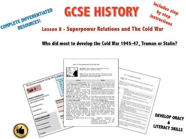 Edexcel Superpower Relations & Cold War L8 Who did most to develop the Cold War 1945-47?