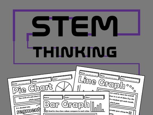 Bar Graph, Pie Chart, Line Graph, Math and Science Doodle Notes
