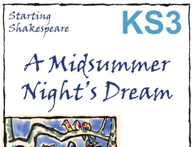 Starting A Midsummer Night's Dream Scheme of Work
