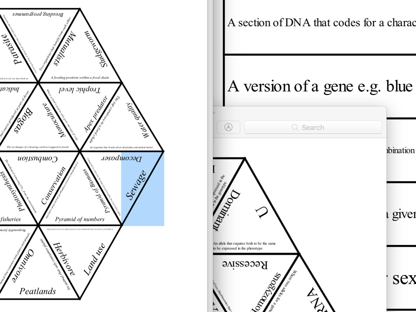 AQA GCSE Biology Paper 2 Tarsia revision resources