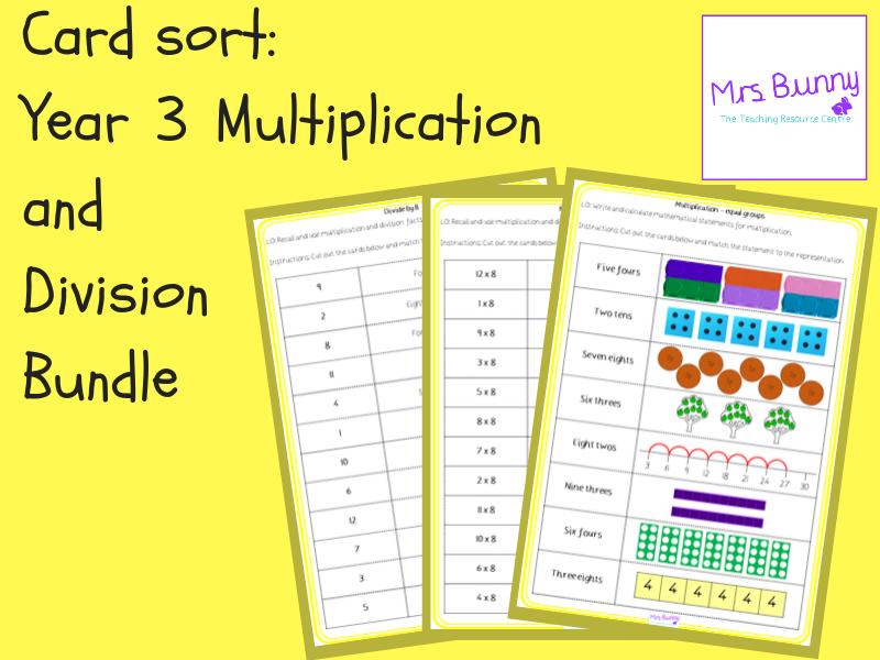 Year 3 Multiplication and Division Card Sort