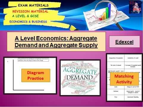 Aggregate Demand and Aggregate Supply Lesson PPTs, 3 x Activities: A Level Economics