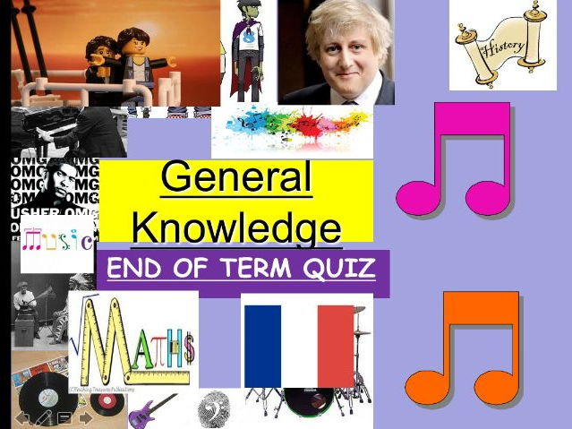 End of term Easter Quiz