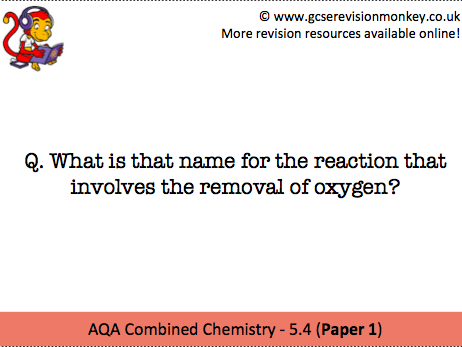 Revision Cards - AQA Combined Chemistry 5.4