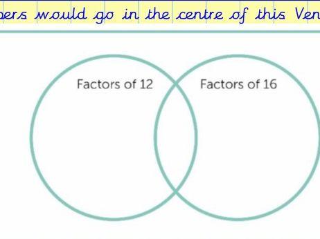 Notebook slides - Common factors