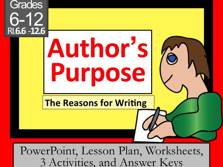 Author's Purpose Lesson for my Formal Evaluation