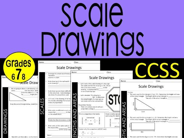 7th Grade Math Scale Drawings Guided Notes