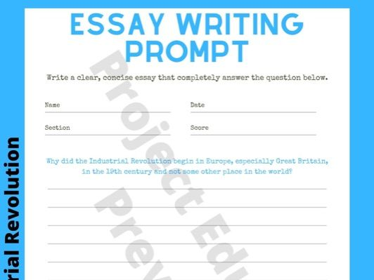 Industrial Revolution Writing Prompt