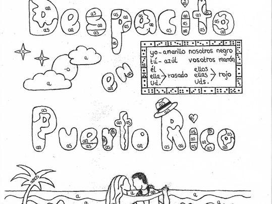 Color by conjugation present tense of regular AR-verbs Spanish no prep practice