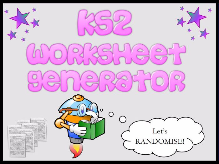 KS2 Fractions Worksheet Generator by mrajlong Teaching – Fraction Worksheet Generator