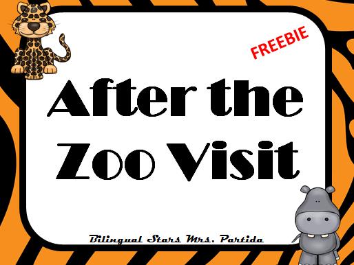 Zoo Visit Animals Opinion writing  Freebie