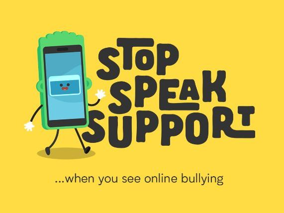 Stop, Speak, Support Cyberbullying Campaign presentation and poster