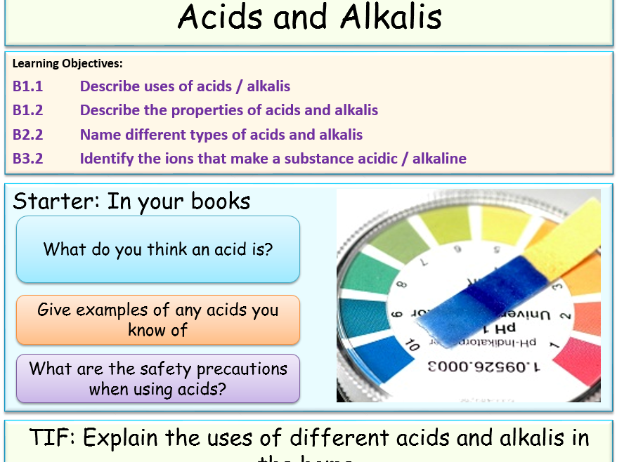 Acids and Alkali Chemistry