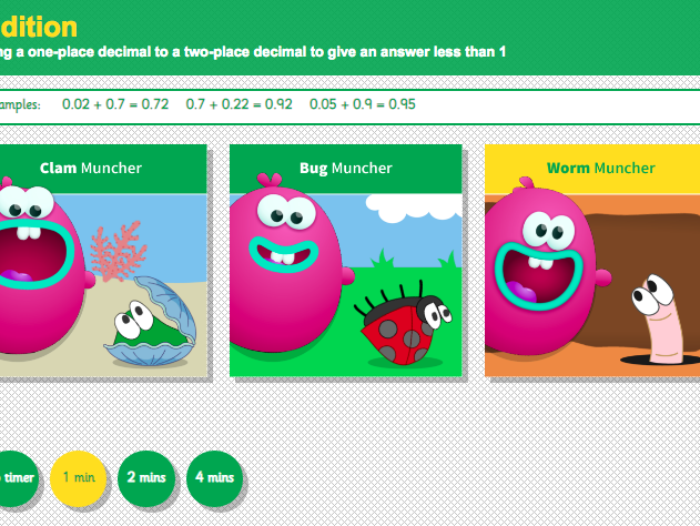 Addition with Decimals: Hundredths - Interactive Game 1 - KS2 Number