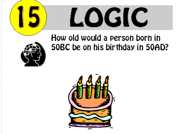 Logic Puzzle 15 of 20 (with solution)