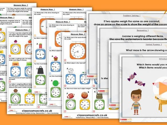 FREE Year 3 Measure Mass 1 Summer Block 4 Step 1 Maths Lesson Pack