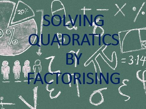 Solving Equations by Factorising Worksheet