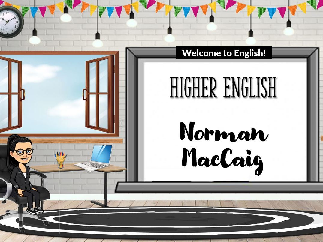Higher Textual Analysis - Norman MacCaig