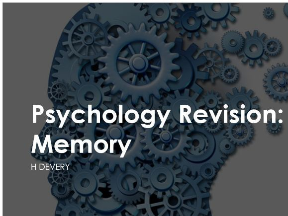 Memory Revision Powerpoint AQA New Spec