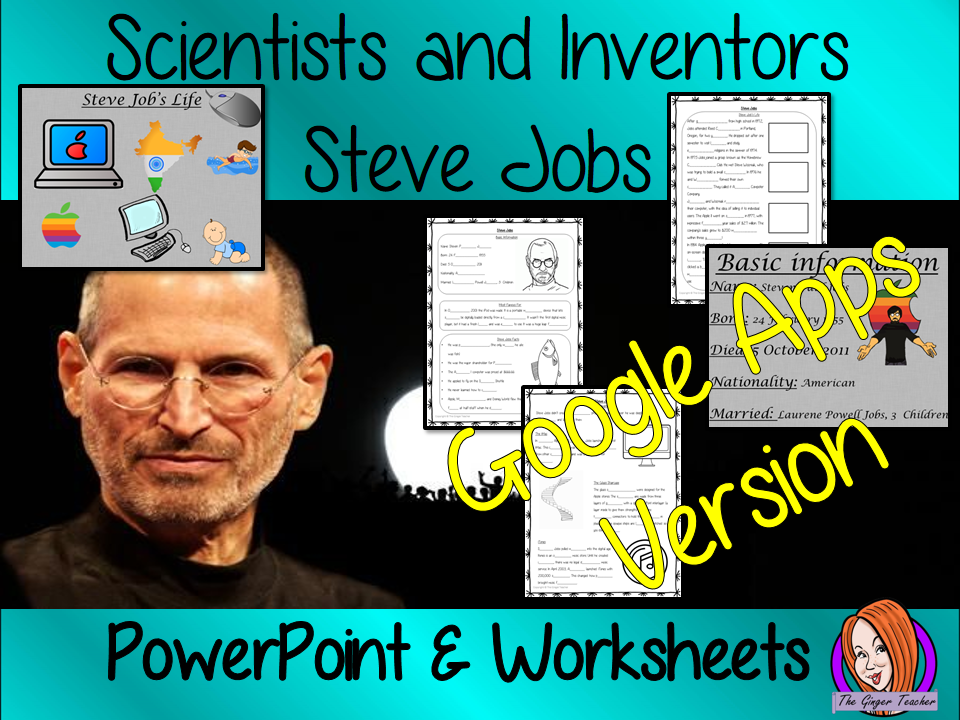 Distance Learning Scientists and Inventors, Steve Jobs Google Slides Lesson