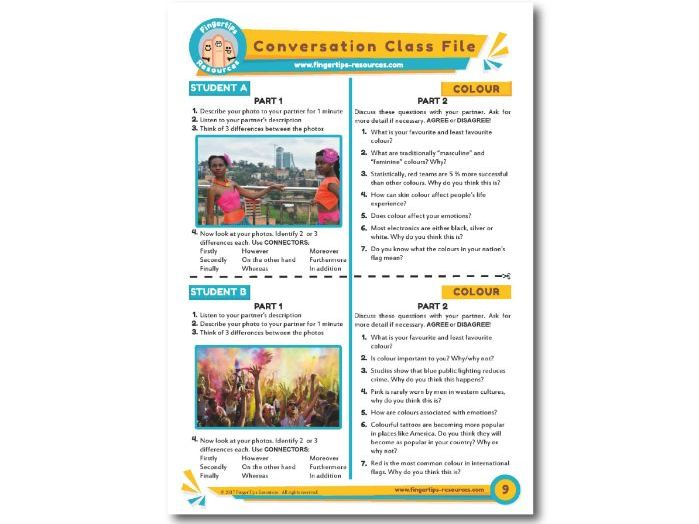 Colour - ESL Conversation Activity