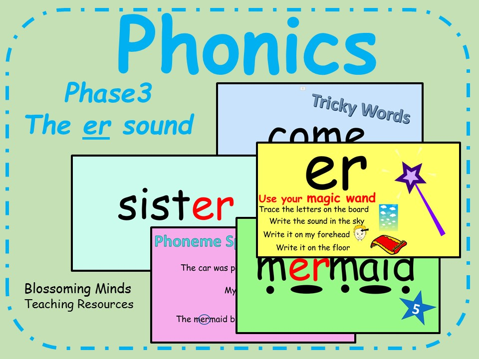 Phonics Phase 3 - The er sound