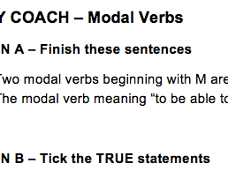 Rally Coach - Peer Assessment - Modal Verbs