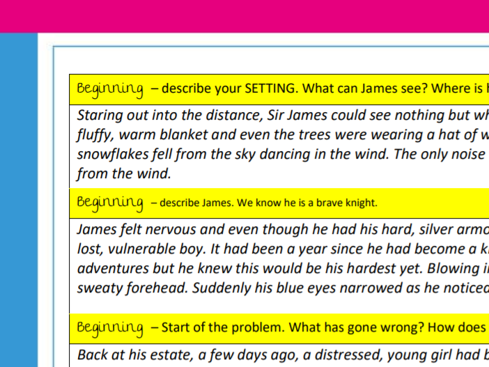 Short story writing – example story and plan (KS2)