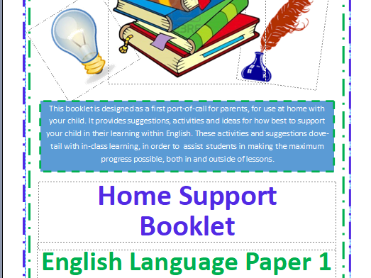 Home Support Booklet for GCSE English Language Paper 1