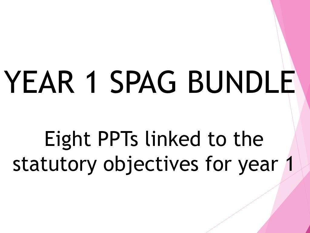 Year 1 SPAG PPT Bundle