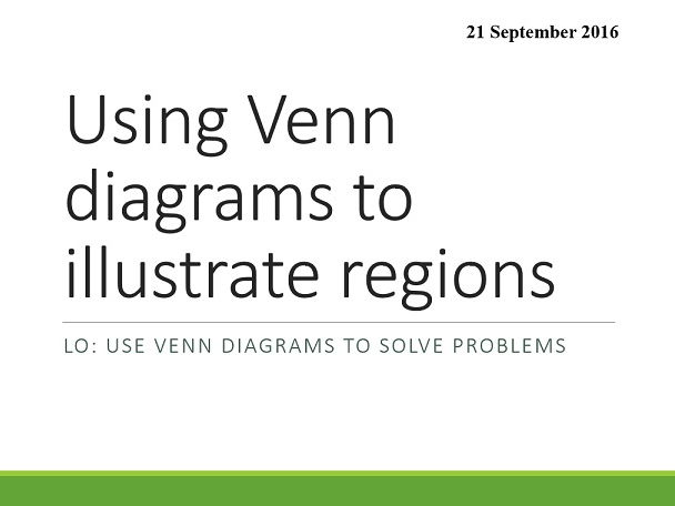 Shading Regions In Venn Diagrams By Oralhurt Teaching Resources Tes