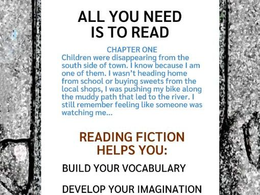 Reading Fiction Poster (US)