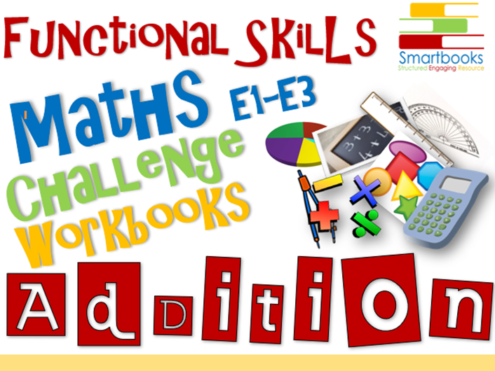 Functional Skills Maths Workbook BUNDLE Addition, Subtraction & Multiplication