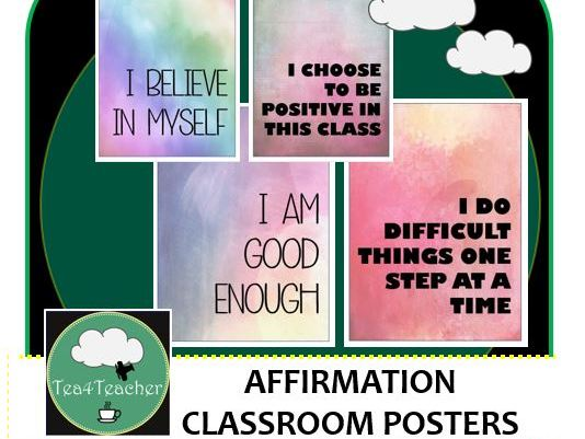 Affirmation Posters for Classroom Displays Printable Motivational Posters Decor