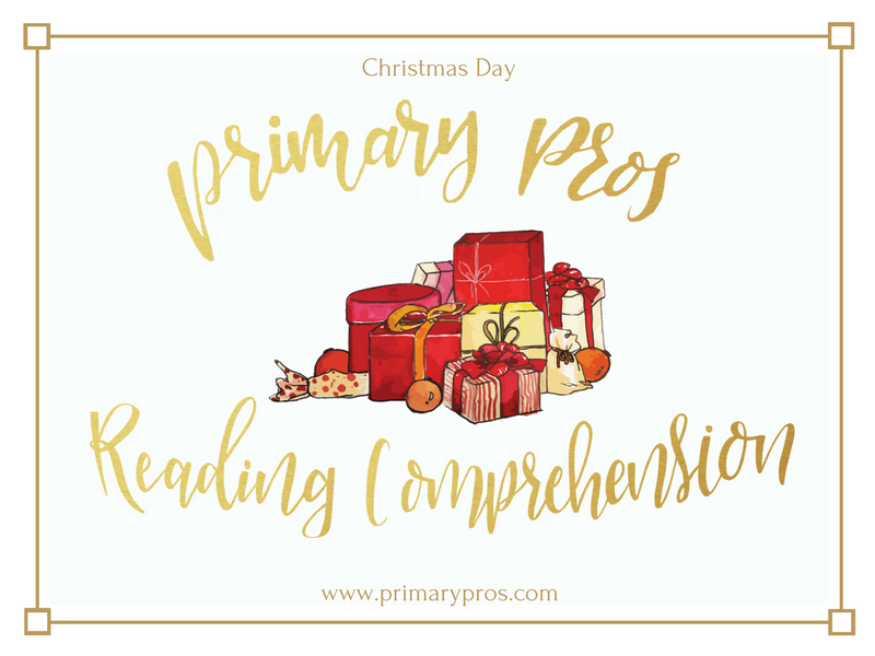 Year 3 & 4 Reading Comprehension - Christmas Day