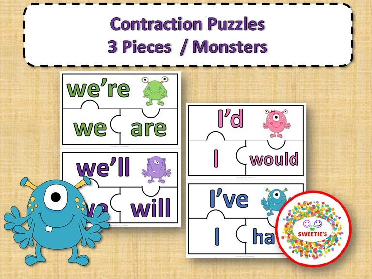 Contraction Puzzles - Monsters