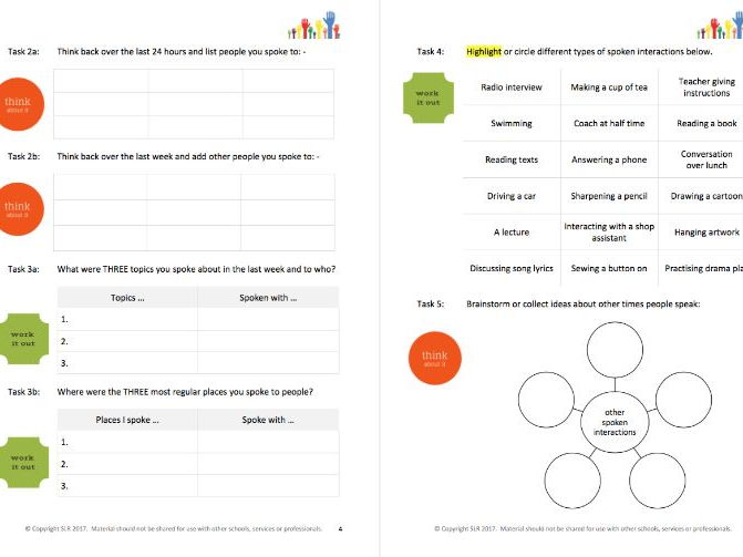 GROWING UP (3) - TALKING & CONVERSATIONS workbooklet